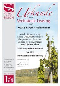 Weinstockleasing Weinpatenschaft